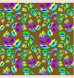 Seamless pattern sprigs plants vector