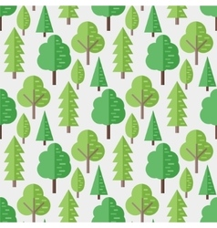 Seamless pattern with flat trees vector image vector image