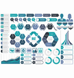set assorted business-related infographic vector image
