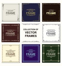 Set frames ethnical art deco style vector