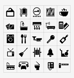 Set icons hotel hostel and rent apartments vector