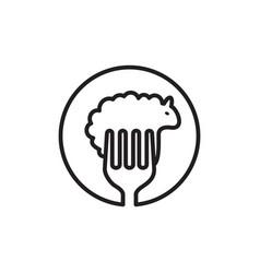 sheep food logo vector image