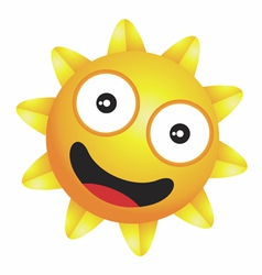 Shiny little happy sun vector image
