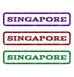 Singapore watermark stamp vector