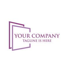 square logo company vector image
