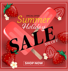 summer holiday sale banner vector image