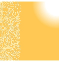 Sunny background with hand drawn ornament vector