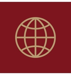The globe icon Globe symbol vector