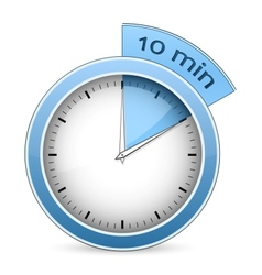 Timer - 10 minutes vector image