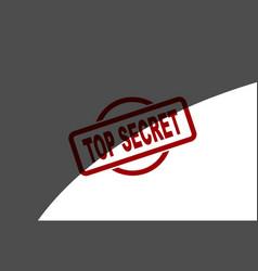 top secret half covered ink stamp vector image