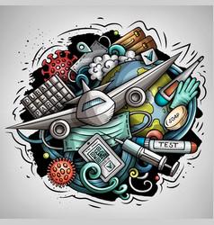 Traveling doodles vector