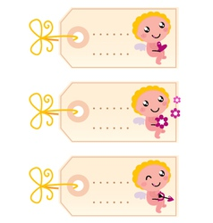 Valentines blank tags vector