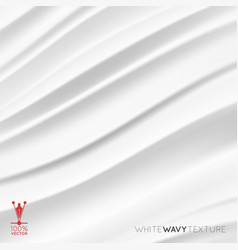 White creamy texture wavy background vector