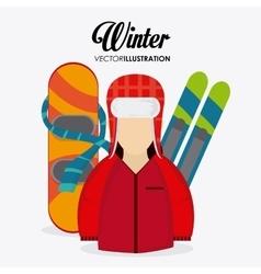 Winter Sport design vector image