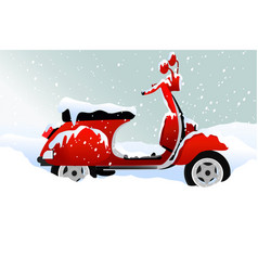 Winter transport issues hello winter background vector