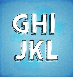 Doodle Style Hand Drawn Alphabet G-L vector image vector image