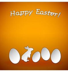 easter background orange vector image