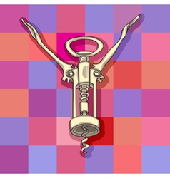 Funny corkscrew vector