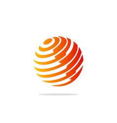 globe sphere technology planet logo vector image vector image