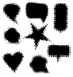 halftone set design elements vector image vector image