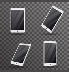 mobile phone touch screen smartphone 3d isolated vector image