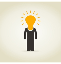 Person a bulb vector image vector image