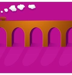Stone bridge viaduct vector image vector image