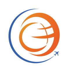 travel and tourism logo design vector image