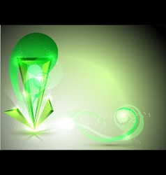 abstract green figure vector image