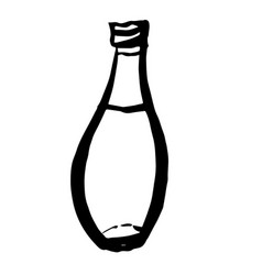 bottle doodle hand drawn vector image