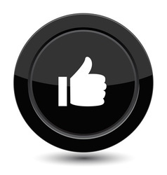 Button with yes sign vector image