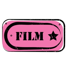 film stamp vector image vector image