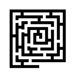 labyrinth black icon vector image vector image