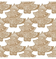 cookie in the form of a Christmas tree pattern vector image