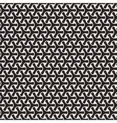 Seamless Black and White Mosaic Triangular vector image