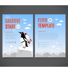 template design flyer brochure cover vector image