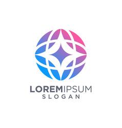 3d globe logo design vector