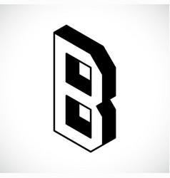 3d letter b logo icon design template element vector