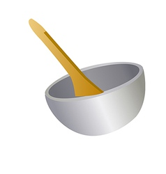 A view of a bowl vector