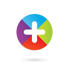 Abstract logo icon design template with cross and vector image