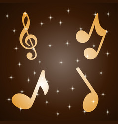 abstract music notes design for music background u vector image