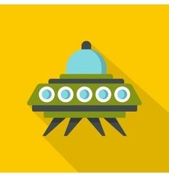 Alien spaceship icon flat style vector