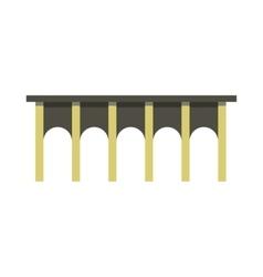 Arch bridge icon flat style vector image