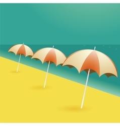 Beach umbrellas cartoon vector