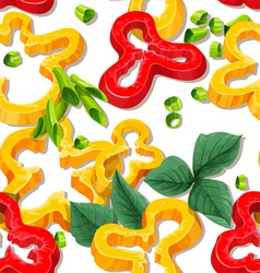 Beautiful seamless background from slices pepper vector image