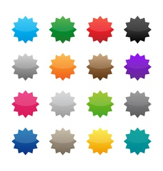 Blank colorful stickers vector image