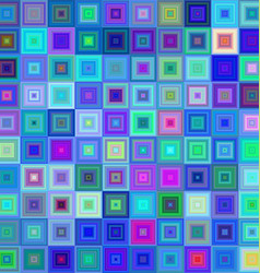 Blue colorful square mosaic background design vector