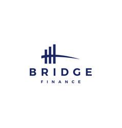 Bridge finance logo icon vector