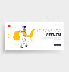 Business man celebrate victory in corporate vector