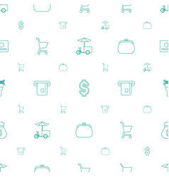 Buy icons pattern seamless white background vector